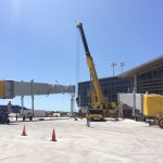 Crane operations at LAX