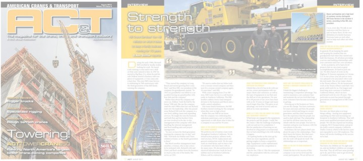 Ronald Hill Featured on American Cranes & Transport
